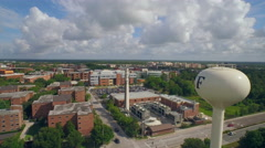Aerial of Water Tower and Campus of the University of Central Florida (UCF) Stock Footage