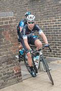 Camberley, UK - September 13, 2014: British sporting legend, Mark Cavendish cycl - stock photo