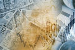 Euro PLN Currency Exchange. Euro to Polish Zloty Trading. Stock Illustration