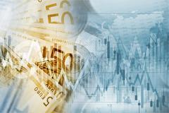 European Union Euro Money Conceptual Graphic. Forex Euro Trading Stock Illustration