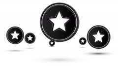 Jumping star icons. Looping. Stock Footage