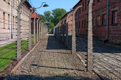 Inside Auschwitz - Birkenau concentration camp Stock Photos