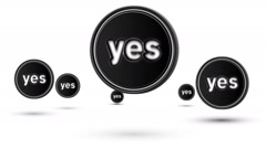"Jumping ""yes"" icons. Looping. - stock footage"