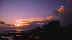 Sunset over the ocean - stock footage