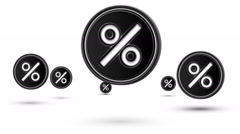 Jumping percent icons. Looping. Stock Footage