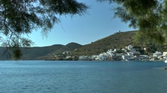 View of the coastal Greek town. Stock Footage
