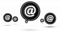 Jumping e-mail icons. Looping. Stock Footage