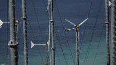 Wind Generator Farm With Turbines - stock footage