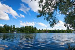 Park in Tsarsloye Selo, Russia - stock photo