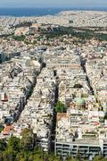 Cityscape of modern Athens, Greece Stock Photos