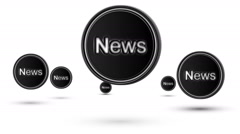"Jumping ""News"" icons. Looping. - stock footage"