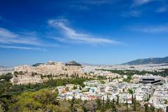 Acropolis hill daytime Stock Photos