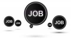 "Jumping ""JOB"" icons. Looping. Stock Footage"