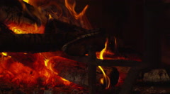 Fireplace -slow motion - hypnotic- close up Stock Footage