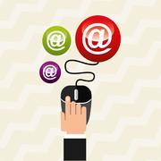 social media design - stock illustration
