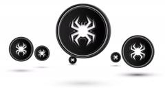Jumping virus icons. Looping. Stock Footage