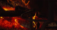 Fireplace-Slow Motion - Hypnotic - 4K Stock Footage