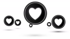 Jumping heart icons. Looping. Stock Footage