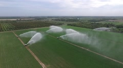 7 Water cannons from the air Stock Footage