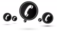 Jumping call icons. Looping. Stock Footage