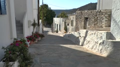 Street of the Greek town. Stock Footage