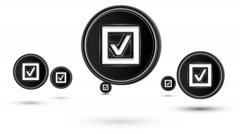 Jumping checkbox icons. Looping. Stock Footage