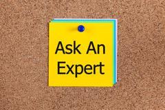 Ask An Expert on corkboard Stock Photos