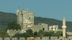 View of the castle in Bodrum. Stock Footage