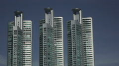 Skyscrapers near Benjakitti Park in Bangkok, Thailand Stock Footage