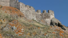 Ancient fortress on the rock. Stock Footage