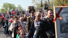 Demonstration on Victory Day Stock Footage