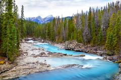 Kicking Horse River in Yoho National Park, Canada Stock Photos