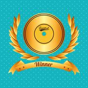 Music Awards design - stock illustration