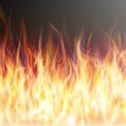Blaze fire flame. EPS 10 Stock Illustration