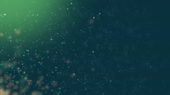 Green Background Soft Particles Stock Footage