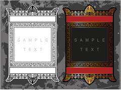 Decorative frame with pattern Stock Illustration