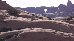 Petrified Sand Dunes ,ARCHES NATIONAL PARK Stock Footage