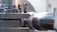 Automatic processing of metal on the machine 2 Stock Footage