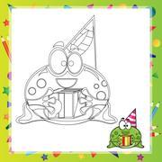 Illustration of Cartoon frog Stock Illustration