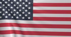 American 3D Flag, USA - stock footage