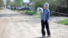 Boy playing football. Kid gamed soccer. Brasil. Rio. Olympic symbolic - stock footage