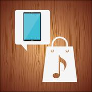 mobile audio design - stock illustration