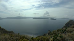 The crater of an ancient volcano - Santorini archipelago. - stock footage