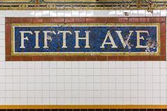 Fifth Avenue Subway Station - stock photo