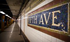 Fifth Avenue Subway Station Stock Photos