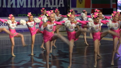 Dancing performance of the cheerleading team. Stock Footage