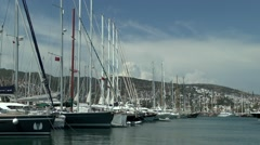 A large number of yachts in the harbor. Stock Footage