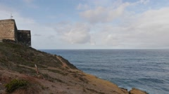 Timelapse Lighthouse in Nazare Stock Footage