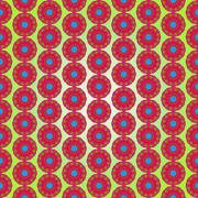 Multicolor seamless floral pattern for texture or background - stock illustration