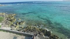 4K Aerial drone shot mexico akumal water Stock Footage